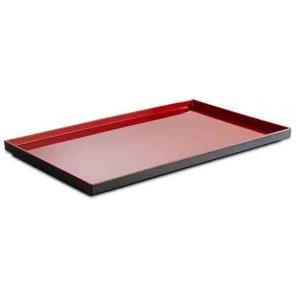 Taca prostokątna ASIA PLUS GN 1/1, z melaminy, czarno-czerwona, APS 15455