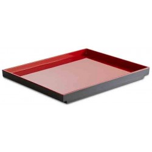 Taca prostokątna ASIA PLUS GN 1/2, z melaminy, czarno-czerwona, APS 15456