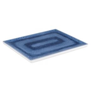Taca prostokątna BLUE OCEAN GN 1/2, z melaminy, niebiesko-biała, APS 84671