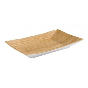 Taca prostokątna BAMBOO, płytka, z melaminy, wym. 21x13 cm, APS 84806