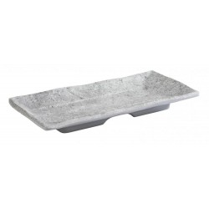 Taca prostokątna ELEMENT, z melaminy, wym. 20 x 9,5 cm, APS 84822