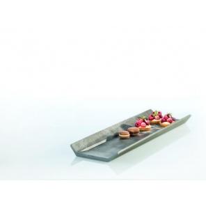 Taca prostokątna ELEMENT GN 1/1 z melaminy optyka betonu 53x32.5 cm, APS 84400