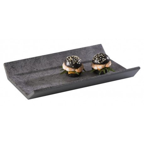 Taca prostokątna ELEMENT GN 1/3 z melaminy optyka betonu 325,5x17,5cm, APS 84402
