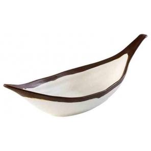 Półmisek w kształcie liścia CROCKER z melaminy beżowy 0.17 l, APS 84579