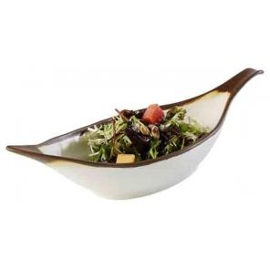 Półmisek w kształcie liścia CROCKER z melaminy beżowy 0.65 l, APS 84581