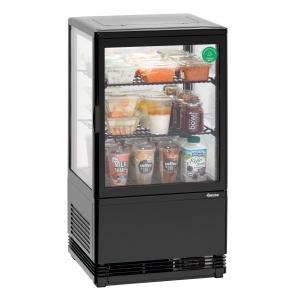 Witryna chłodnicza Bartscher Mini 58L-SW czarna 700358G