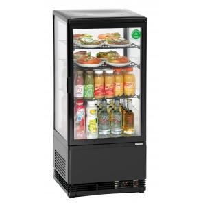 Witryna chłodnicza Bartscher Mini 78L, czarna 700277G