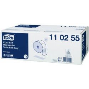 Tork papier toaletowy mini jumbo ekstra miękki Premium, 3-warstwowy110255
