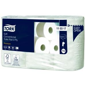 Tork papier toaletowy do dozownika z automatyczną zmianą rolek miękki Premium – 3 warstwy110317