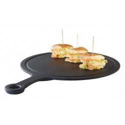 Round tray with SLATE...