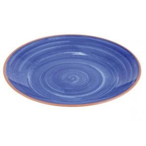Talerz LA VIDA z melaminy niebieski 32x3.5 cm, APS 84161