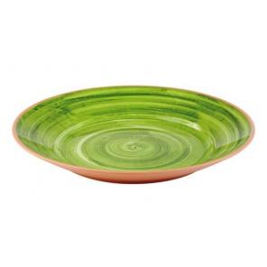 Talerz LA VIDA z melaminy zielony 40.5x5.5 cm, APS 84172
