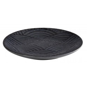 Talerz okrągły DARK WAVE, z melaminy, czarny, śr. 14,5 cm, APS 84907
