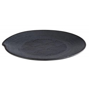 Talerz okrągły DARK WAVE, z melaminy, czarny, śr. 27 cm, APS 84909