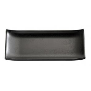 Taca prostokątna do sushi ZEN, z melaminy, czarna wym. 22,5x9,5 cm, APS 83744
