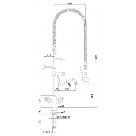 Bateria mieszająca dwuuchwyt. 26L-1801B Bartscher 400136