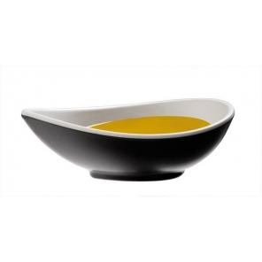 Melamine oval bowl HALFTONE...