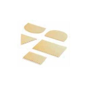 Skrobka z tworzywa z ząbkami trójkątna, trójstronna 9,3 x 8,3 cm, 30002.37273