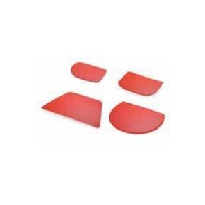 Skrobka z tworzywa czerwona duża trapez 21,6 x 12,8 cm, 30018.37053