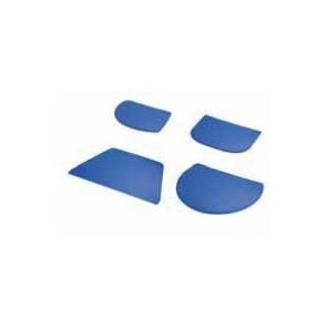 Skrobka z tworzywa niebieska trapez 21,6 x 12,8 cm, 30012.37053