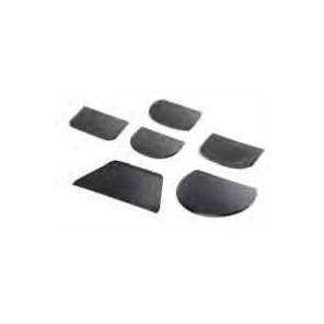 Skrobka z tworzywa czarna wykrywalna 12 x 8,8 cm, 30002.37735