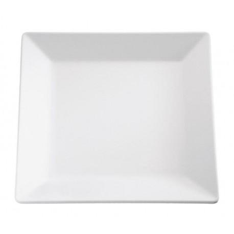 Taca PURE kwadratowa z melaminy biała 26,5 x 26,5 cm. APS 83406