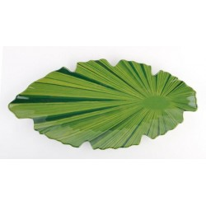Leaf-shaped platter NATURAL...