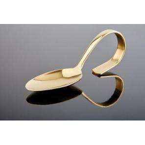 Łyżka przystawkowa CLASSIC, ze stali nierdzewnej, złota, dł. 12 cm, APS 00691