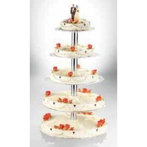 Stojak na torty aluminiowy 5-pięter, 50001.63935