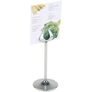 Stainless steel menu holder...