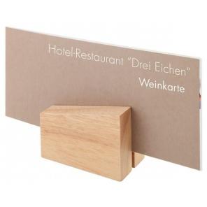 Uchwyt na menu z drewna -...