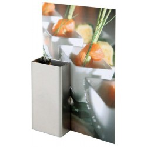 Satin stainless steel menu...