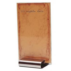 Podstawka pod menu ze stali nierdzewnej satynowanej 8x7 cm, APS 00030