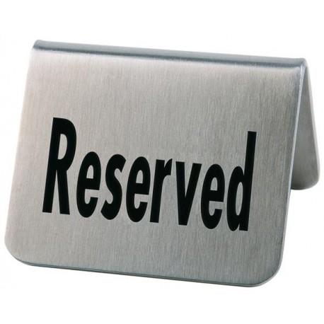 Tabliczka RESERVIERT ze stali nierdzewnej - zestaw: 2 szt. APS 00017
