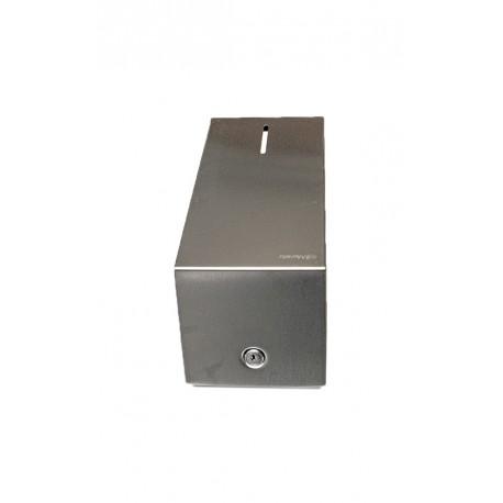 Pojemnik na papier toaletowy w listkach  STELLA, poj. do 400 szt. listków , STAL MATOWA