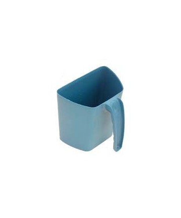 Plastic scoop jug with a scale