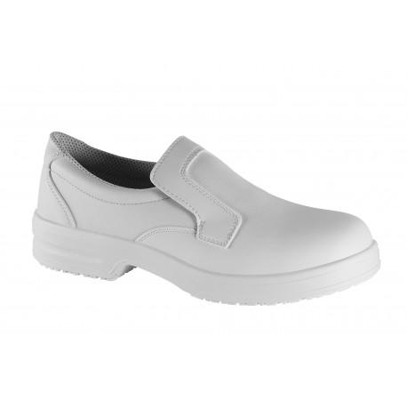 buty wsuwane BHP / mokasyny białe
