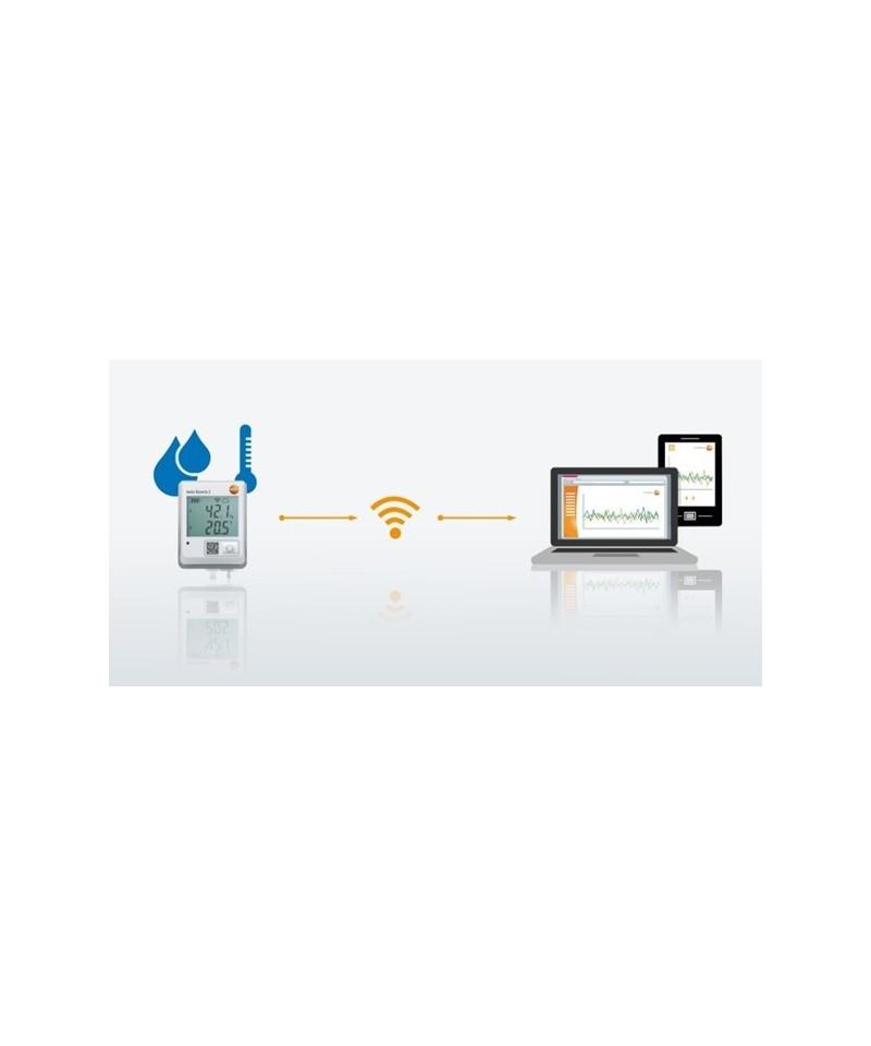Testo Saveris 2 - T2 - rejestrator danych WiFi z wyświetlaczem i 2 gniazdami do podłączenia sond temperatury