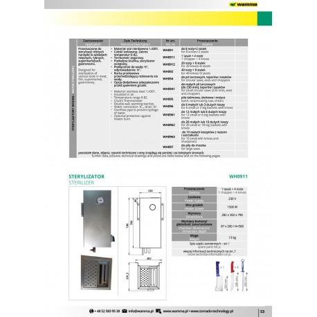 sterylizator wodny do noży i tasaka H0911