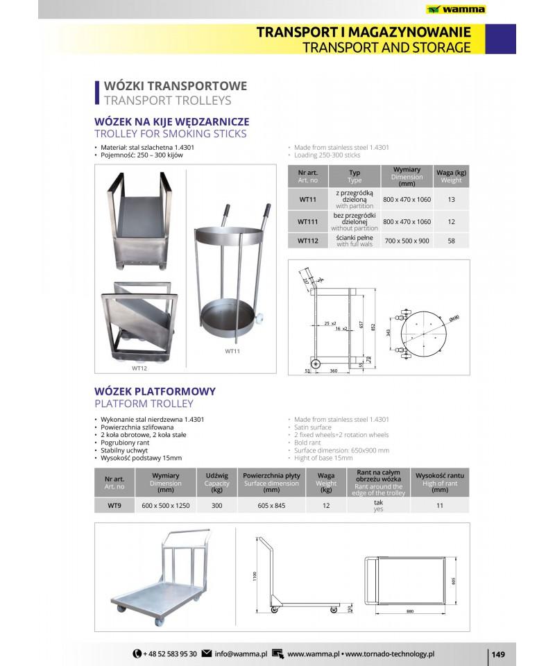 Wózek transportowy , platformowy WT9